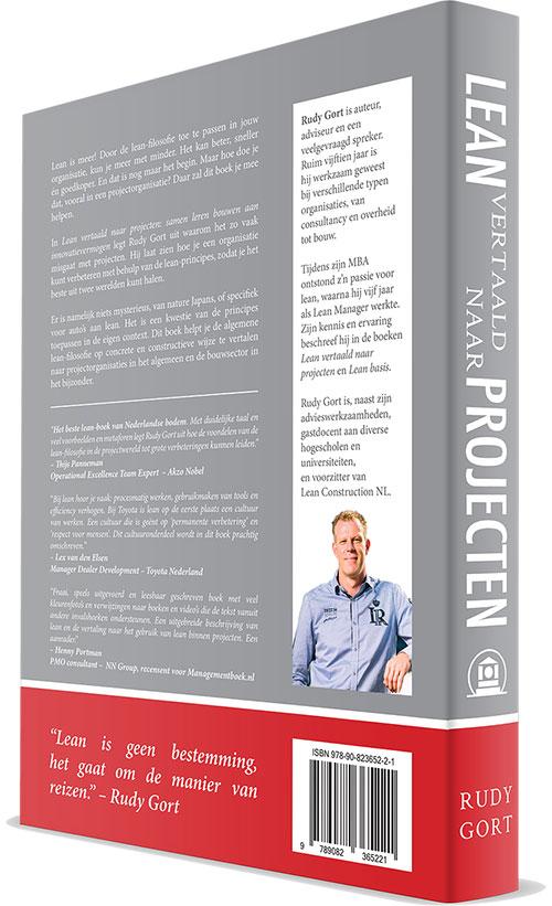 Boekcover - Lean vertaald naar projecten (achterkant)