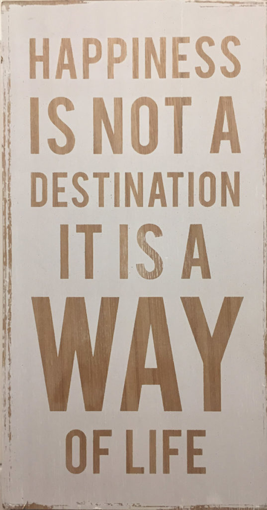 happiness is not a way of life; it is a destination