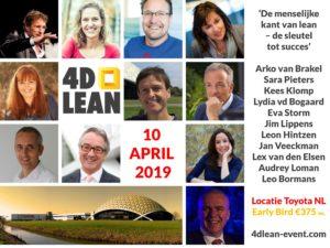 4D Lean event sprekers matrix