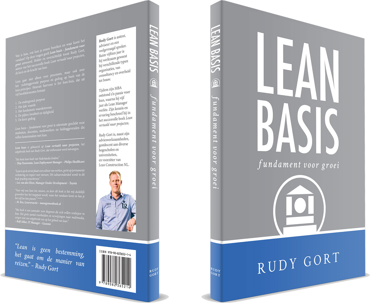 3D boek-cover Lean Basis 1e druk