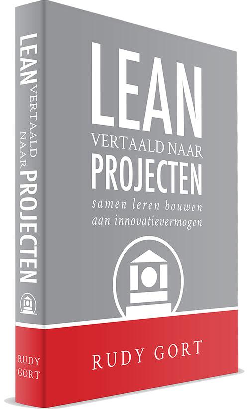 Boekcover - Lean vertaald naar projecten (voorkant)
