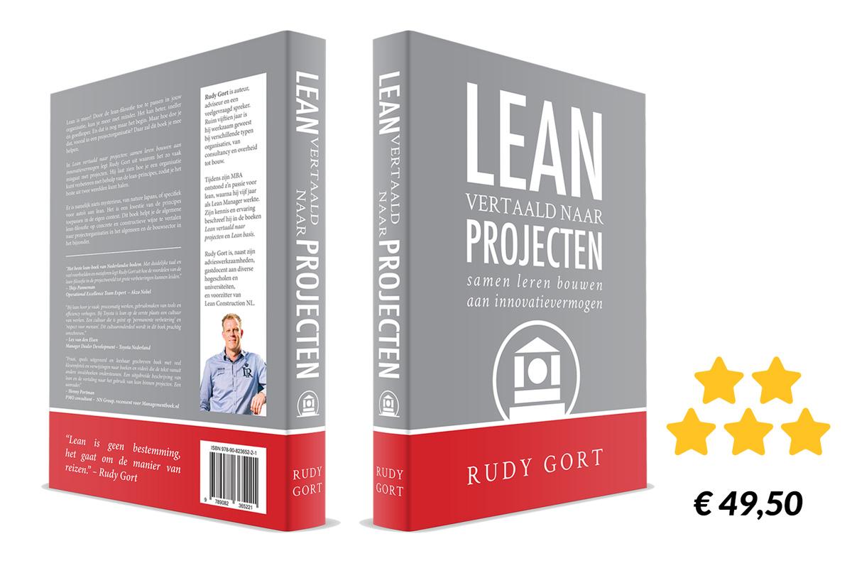 3D boek-cover Lean vertaald naar projecten 2e druk
