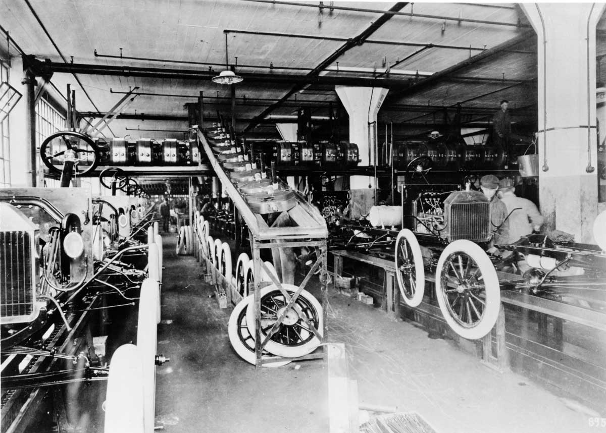 Ford Highland Park Plant assembly line 1914