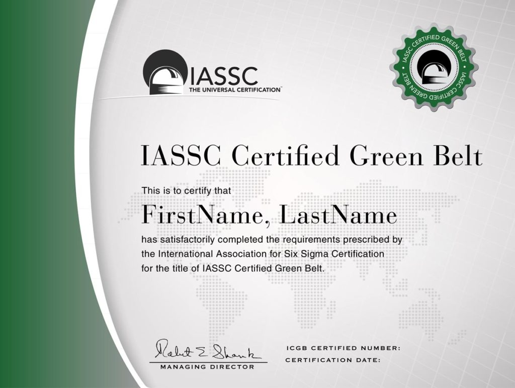 Green Belt Six Sigma certificaat