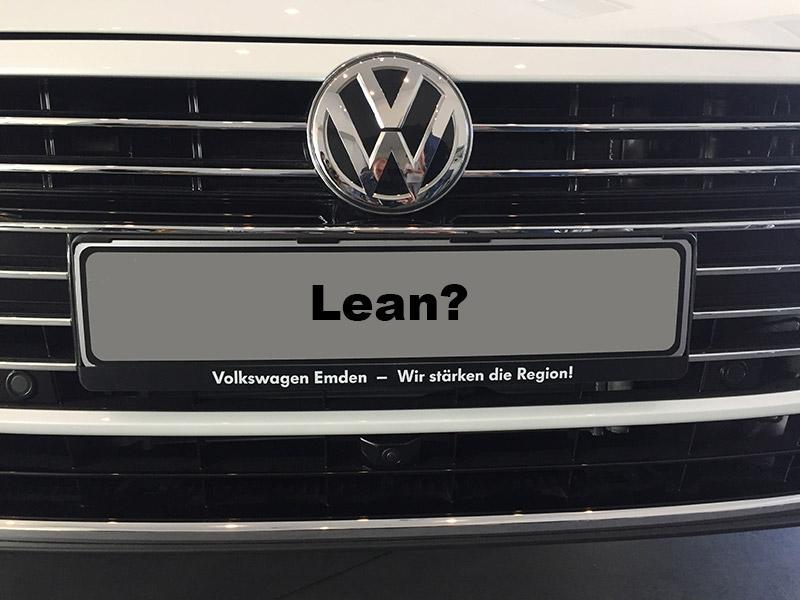 Volkswagen lean? Nog een hele reis!